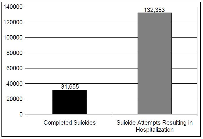 Figure 1. Attempted and Completed Suicides in the United States